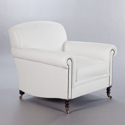 Full Scroll Arm Signature Chair. Monica James & Co. Miami Design District, South Florida. Local nation wide delivery.