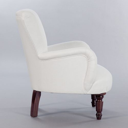 Unbuttoned Bedroom Chair. Monica James & Co. Miami Design District, South Florida. Local nation wide delivery.