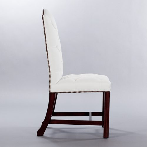 Gainsborough Side Chair (Buttoned). Monica James & Co. Miami Design District, South Florida. Local nation wide delivery.