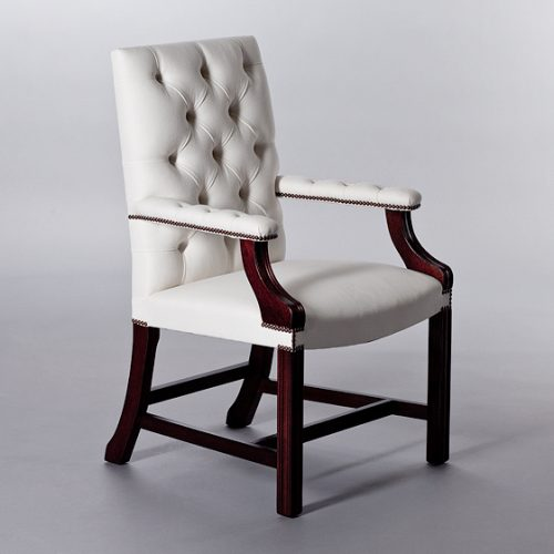 Gainsborough Carver Chair (Buttoned). Monica James & Co. Miami Design District, South Florida. Local nation wide delivery.