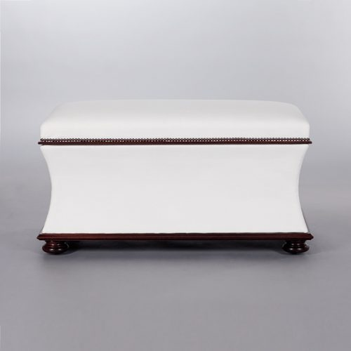Belville Ottoman. Monica James & Co. Miami Design District, South Florida. Local nation wide delivery.