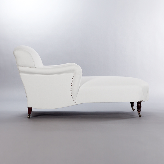 George Smith Chaise. Monica James & Co. Miami Design District, South Florida. Local nation wide delivery.