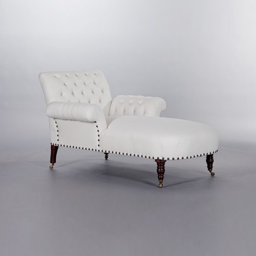 Butterfly Chaise (Buttoned). Monica James & Co. Miami Design District, South Florida. Local nation wide delivery.