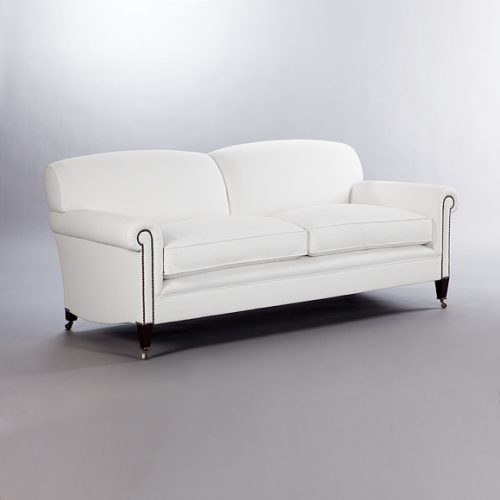 Full Scroll Arm Signature Sofa. Monica James & Co. Miami Design District, South Florida. Local nation wide delivery.