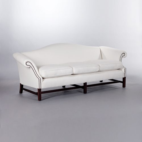 Chippendale with Seat Cushions Sofa. Monica James & Co. Miami Design District, South Florida. Local nation wide delivery.