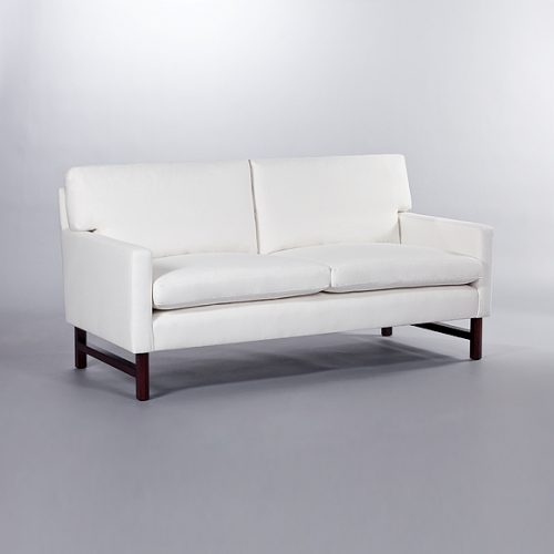 Brompton Loose Back Cushion Full Arm Sofa. Monica James & Co. Miami Design District, South Florida. Local nation wide delivery.